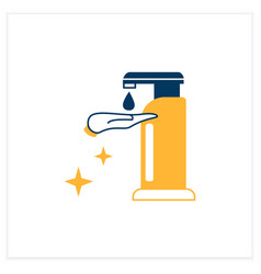 Sanitizer dispenser flat icon vector