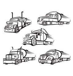 set tank truck vector image