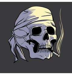 Smoking skull vector image
