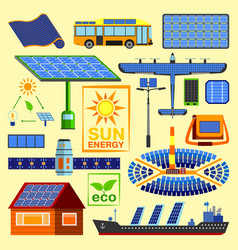solar energy set vector image