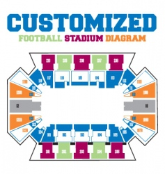 Stadium diagram vector