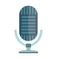 Studio or radio microphone vector image