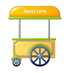 sweet corn street shop icon cartoon style vector image