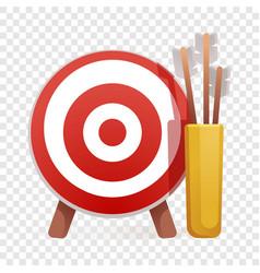 target arrow icon cartoon style vector image