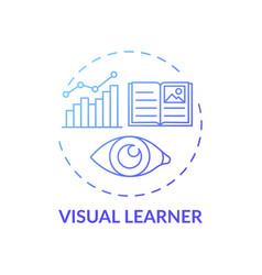 Visual learner blue gradient concept icon vector