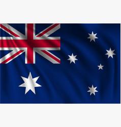 Waving australia vector