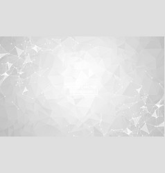 white geometric polygonal background molecule and vector image