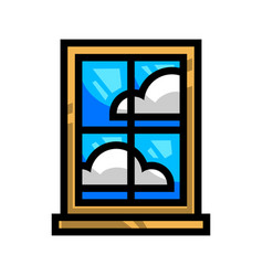 Window frame glass pane vector