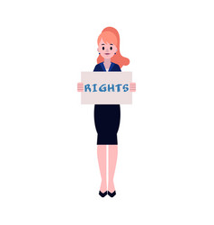 woman protester - young vector image