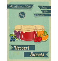 Confectionery Retro Design vector image