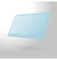 glass tablet computer vector image vector image