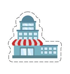 cartoon building store market vector image