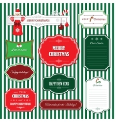 Christmas and happy new year frames and banners vector
