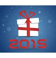 Gift box 2015 vector image