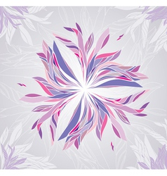 Multicolored flower vector image vector image