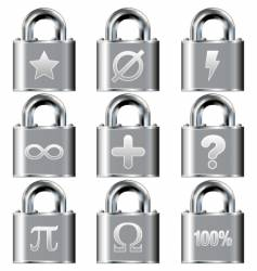 secure math symbols vector image vector image