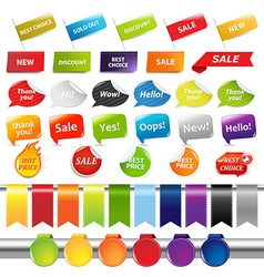 Set Of Sale Stickers And Labels vector image