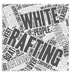 White water rafting word cloud concept vector