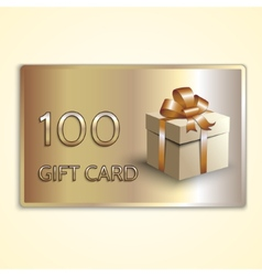 abstract golden gift card with box vector image
