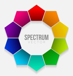 Colorful rainbow flower vector image vector image