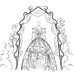 Mannequin for tailors with dress vector image