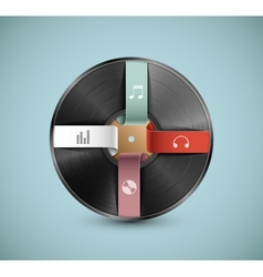 Musical infographic vector image vector image