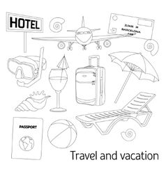 Travel and vacation set vector image