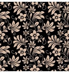 Vintage floral wallpaper seamless pattern vector