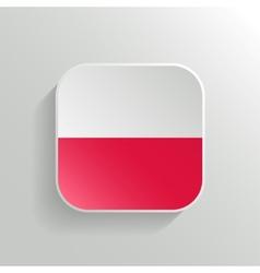 Button - Poland Flag Icon vector image vector image