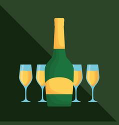 champagne drink design vector image vector image