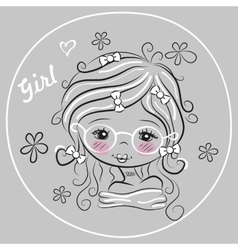 Cute Drawing Girl vector image
