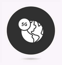 5g network - icon isolated vector image