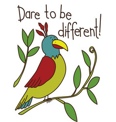 A parrot with wording vector
