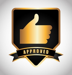 Approved seal vector