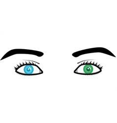 Beautiful pairs of eyes vector