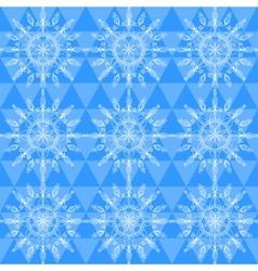 Beautiful snowflakes seamless pattern vector image