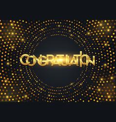 black paper cut background congratulation vector image