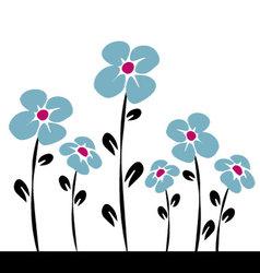blue daisys vector image