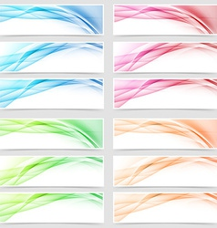 Bright smooth abstract line swoosh web footer vector image vector image