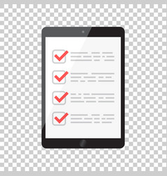 businessman checklist with tablet check list icon vector image