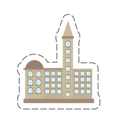 Cartoon building government office vector