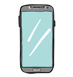 Cartoon image of cellphone icon smartphone vector