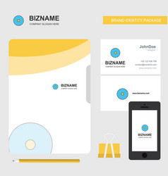 cd business logo file cover visiting card and vector image