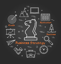 chalk board - business strategy vector image