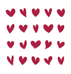 Collection heart icons vector