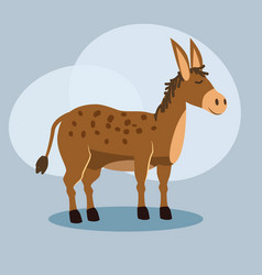 cute cartoon donkey isolated vector image