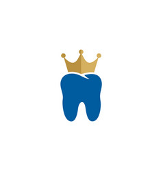 dental king logo icon design vector image