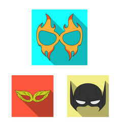 design of hero and mask symbol collection vector image