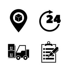 e-commerce shopping simple related icons vector image