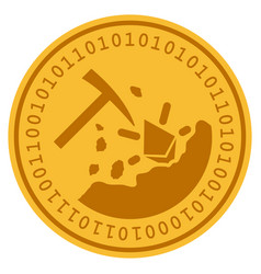 Ethereum mining digital coin vector